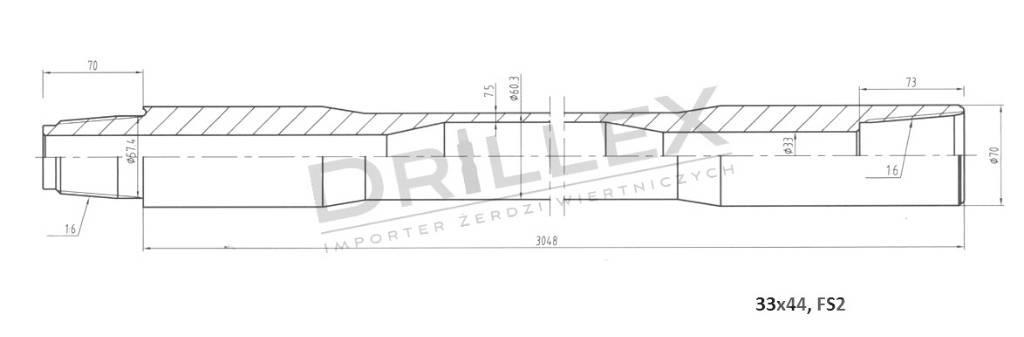 Vermeer D33x44,D36x50 FS2 3m Drill pipes, żerdzie