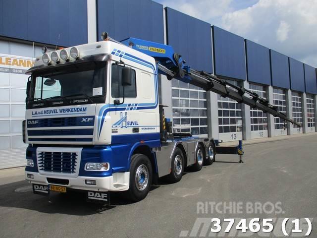 DAF FTM 95 XF 530 8x4 Palfinger 100 ton/meter Kran
