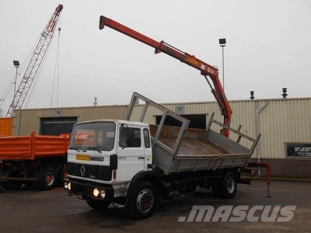 Renault G230 Kipper + Hiab Crane Good Condition