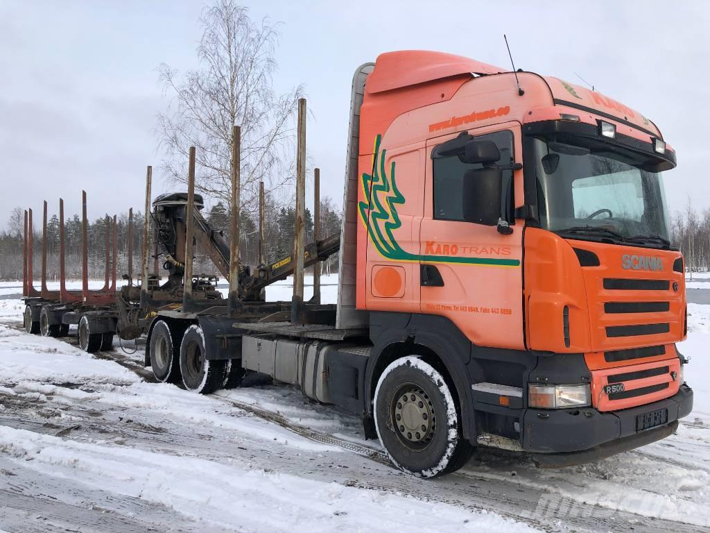 Scania R 500 LB + LOGLIFTER + TRAILER