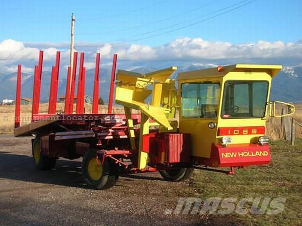 New Holland 1069 Self Propelled Bale Wagon, 1980, Balvagnar