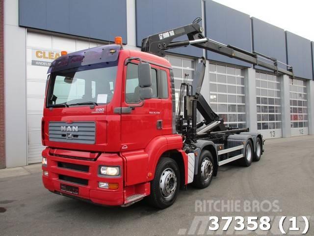 MAN TGA 35.430 8x2 Hiab 16 ton/meter laadkraan