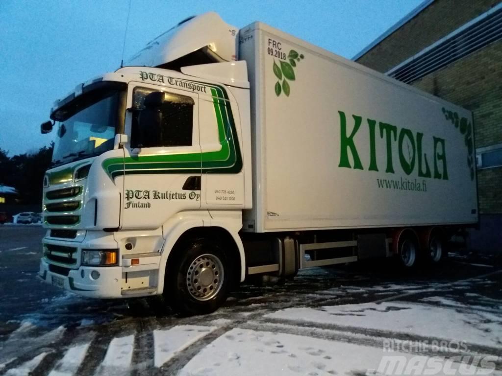 Scania R500 6x2 pakkaskaappi,pl-nost.+5 aks.kärry