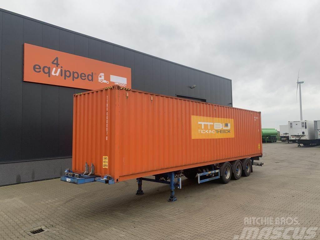 Broshuis 45FT HC multi + 1x 40FT HC-container, BPW+Drum, 2x