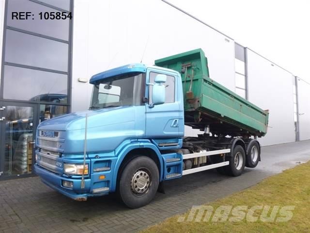Scania T124.470 6X2 TIPPER MANUAL FULL STEEL EURO 3