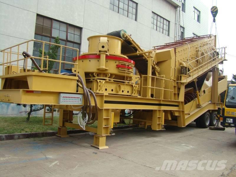 White Lai Mobile Impact Crusher Crushing Plant WL3S1860F1214
