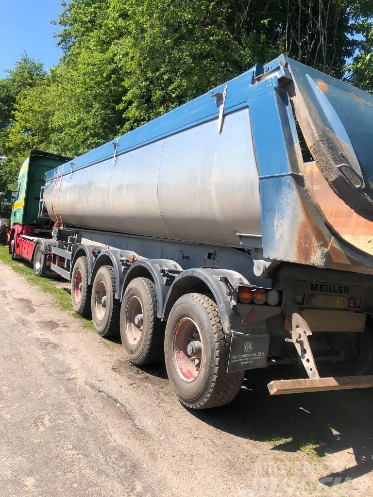 [Other] Skadet Meiller asfalt trailer 4 akseler gode dæk a