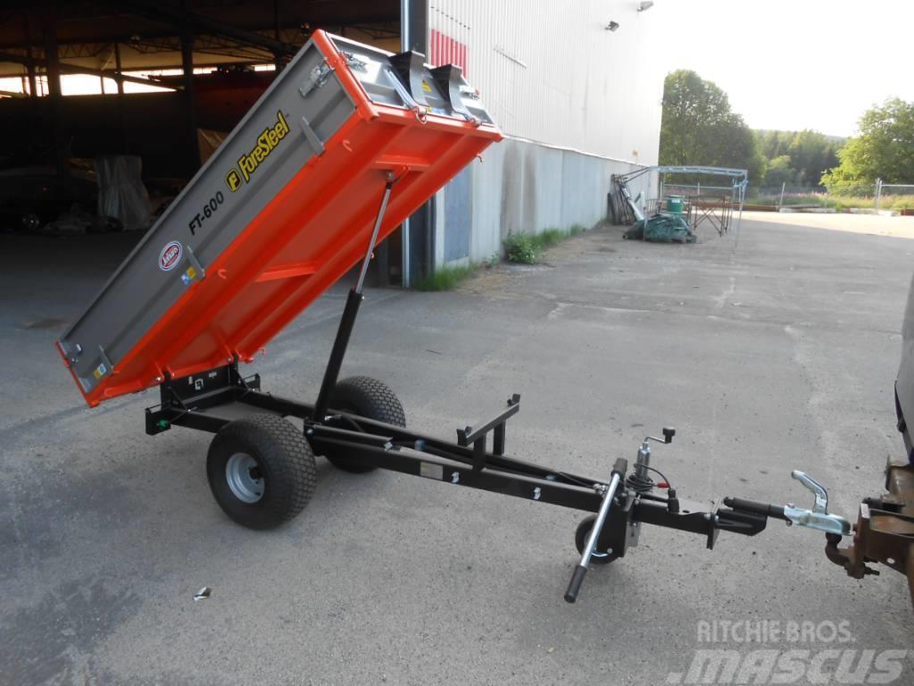 ForeSteel Traktorvagn FT 600  med Manuell Hyd Tipp