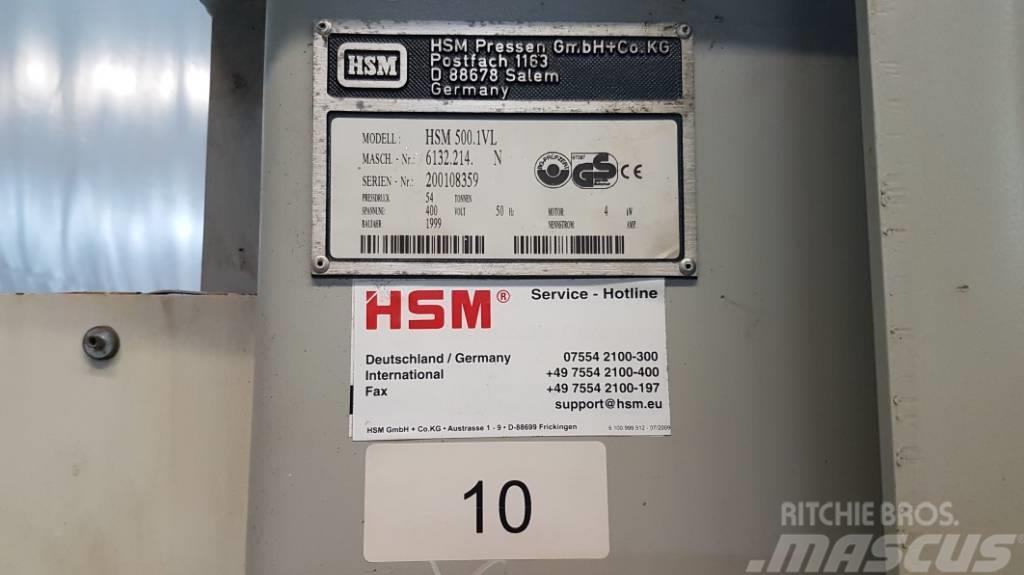 [Other] Vertikal-Ballenpresse HSM 500.1 VL (Int. 10)