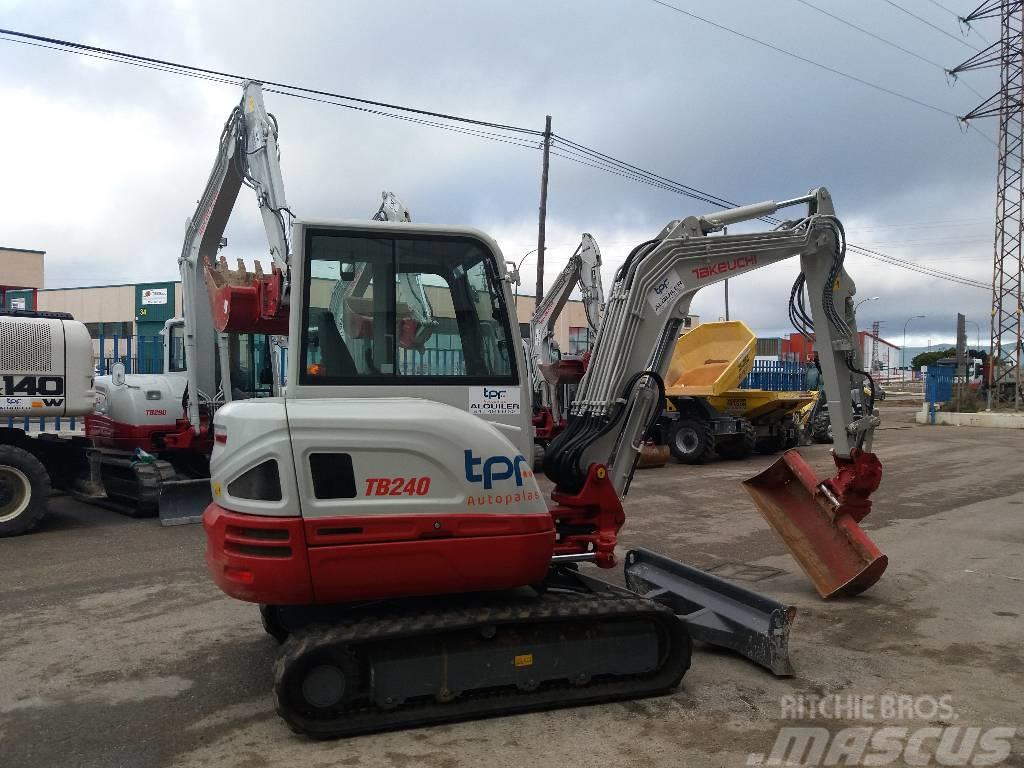 Used Takeuchi TB240 mini excavators < 7t (mini diggers) Year: 2016