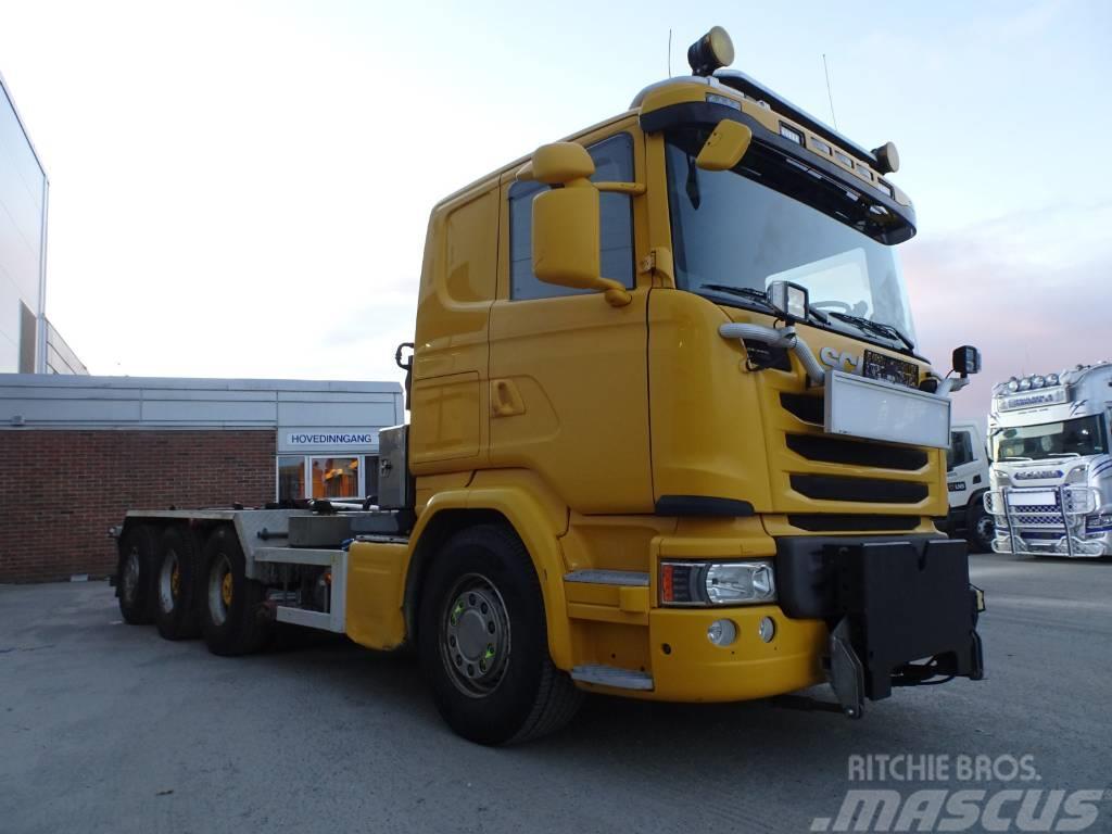 Scania G 490 tridem Multilift koukku tienhoitovar