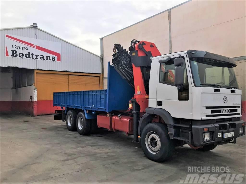 Iveco Eurotrakker 310 camion grua PALFINGER modelo 36002