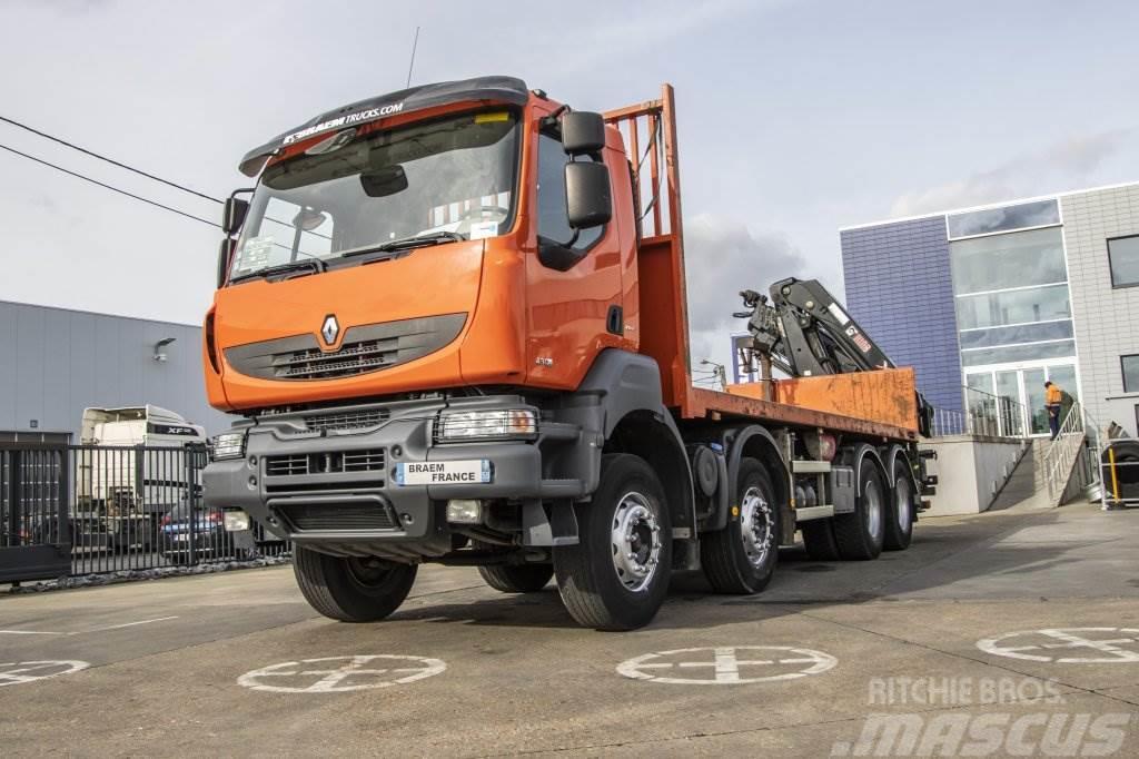 Renault KERAX 430 DXI+PLATEAU 7M+HIAB 211EP-5 HIDUO