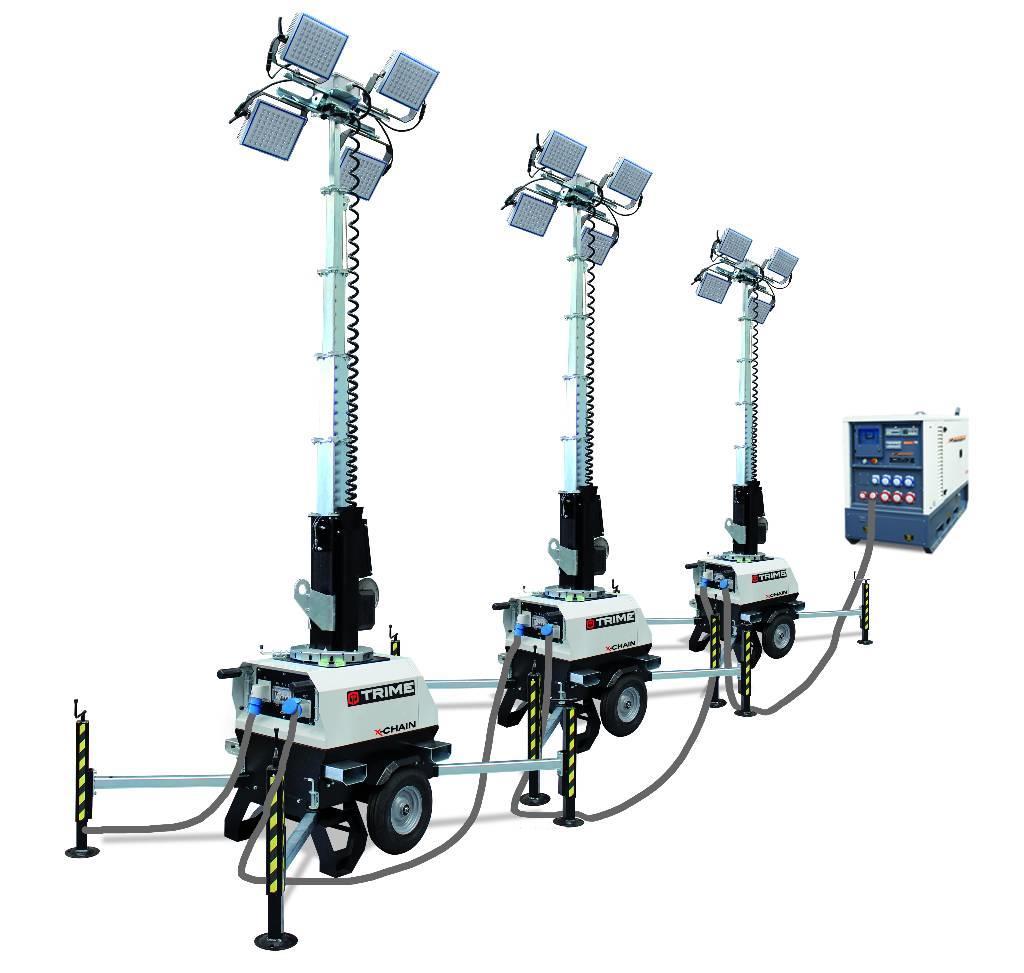Light Tower Sales: Used -mobiele-doorlink-lichtmast-trime-x-chain Light