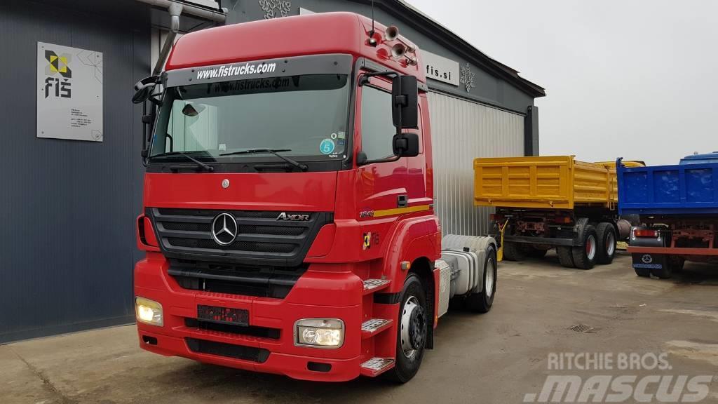 Mercedes-Benz AXOR 1843 4X2 tractor - E5 - tipp. hyd.