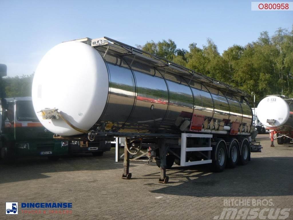 LAG Chemical tank inox 30 m3 / 1 comp + pump
