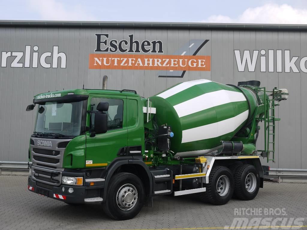 Scania P360, 6x4, 7m³ Intermix, Blatt, Klima