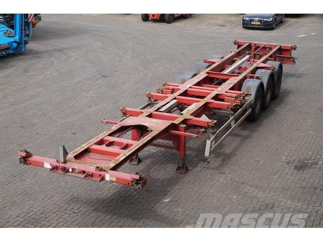 Renders Container chassis 3-assig 20,2x20,30,40ft