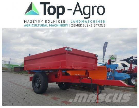 Top-Agro 3 sides tipping trailer, 1 axle, perfect price!