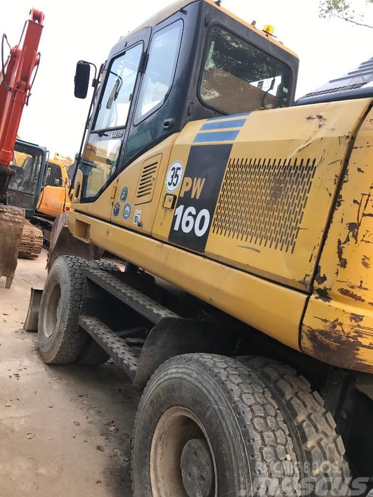 Komatsu komatsu pc160 wheel excavator
