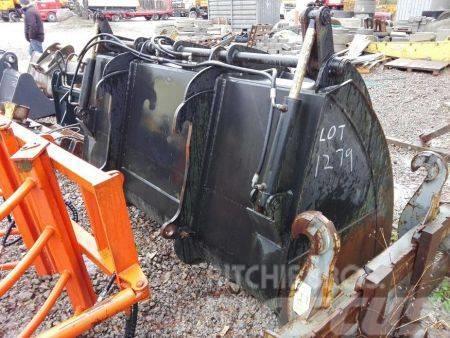 Łyżka do ładowarki z trzymakiem hydraulicznym duża، جرافات عكسية