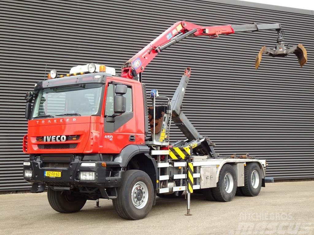 Iveco Trakker AD380T45W 6X6 / Z CRANE / HOOKLIFT