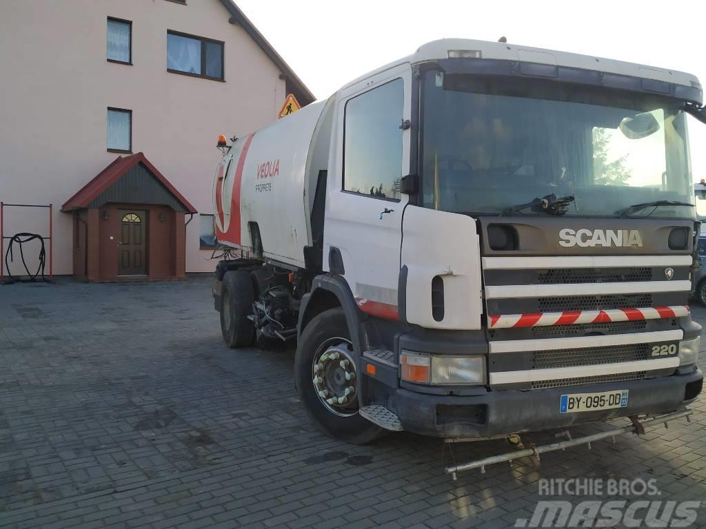 Scania 220 OPTIFANT 7M3 Zamiatarka