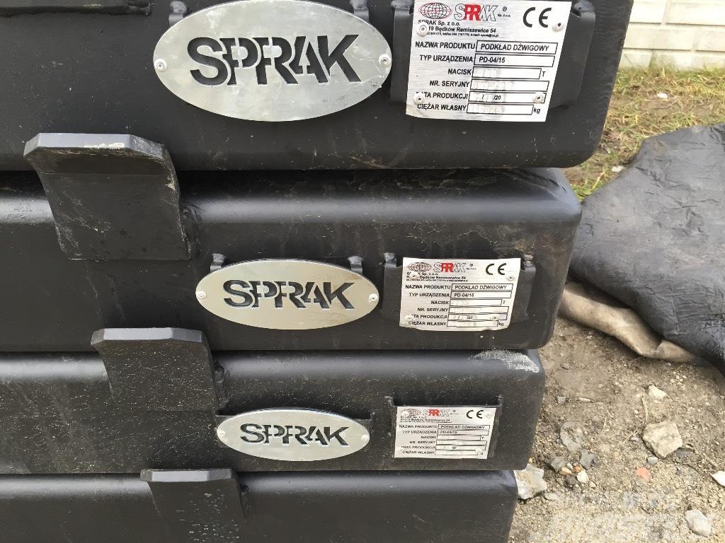 Sprak Podkłady pod stopy dźwigu / żurawia CRANE SL, 2017, Części do dźwigów oraz wyposażenie