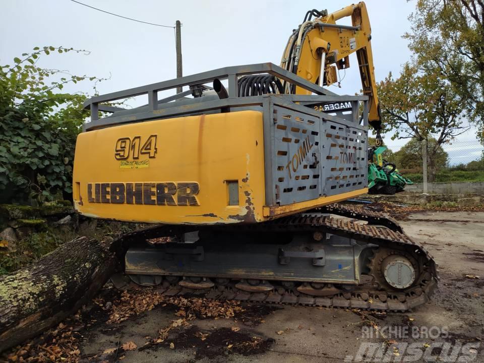 Liebherr 914 con cabezal Lako 750 4WD