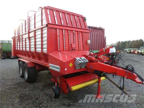 Pöttinger EUROPROFI 3 EUROMATIC, 2002, Self loading trailers
