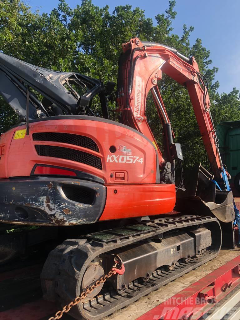 Kobota 6 Tons skadet hus og arm kan køre KX057-4