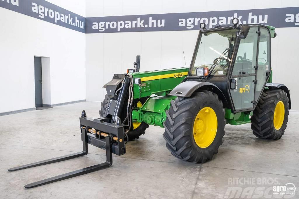 John Deere 3420 (7361 hours) 3.000 kg capacity, 7 m lifting