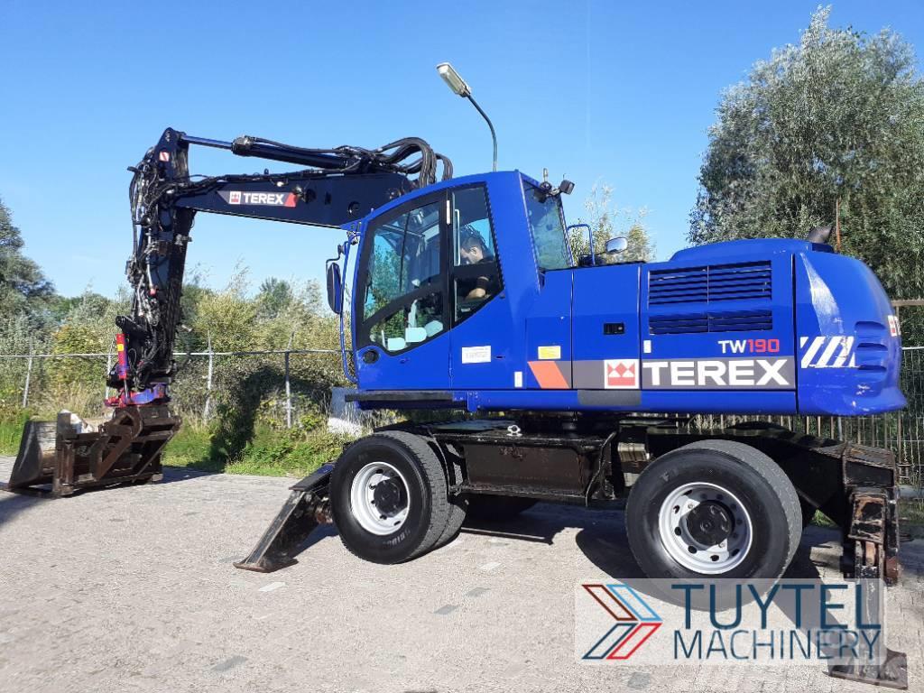 Terex TW 190 mobiele banden graafmachine excavator wheel