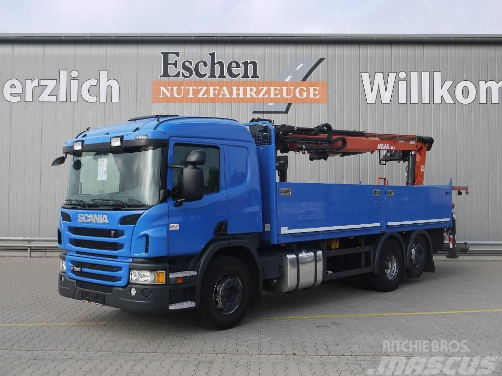 Scania P 360 6x2, Atlas 186.3 V, nachl. Lift