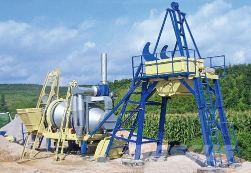 SanLian HLB40 Mobile Asphalt Mixing Plant
