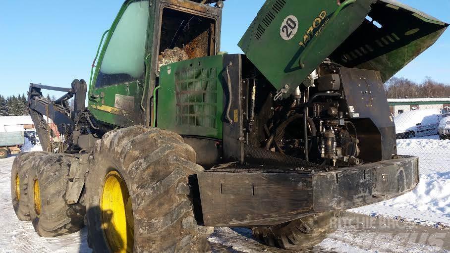 John Deere 1470D Harvester Eco 3, beaking for parts