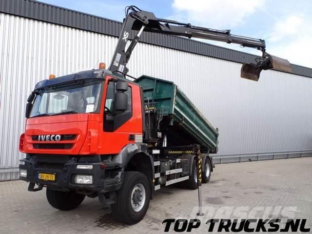 Iveco AW 380T41 6x6 Kipper E5, Hiab 14TM Kraan, Crane, K