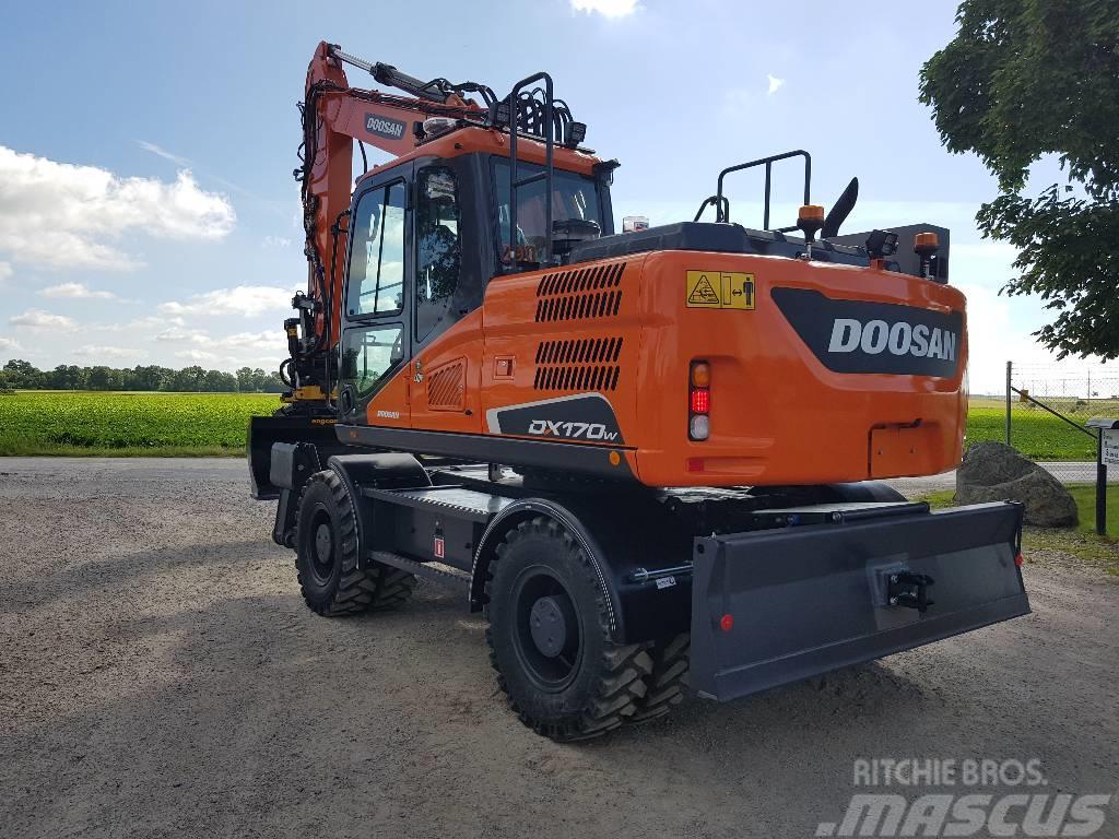 Doosan DX 170 W-5, Uthyres