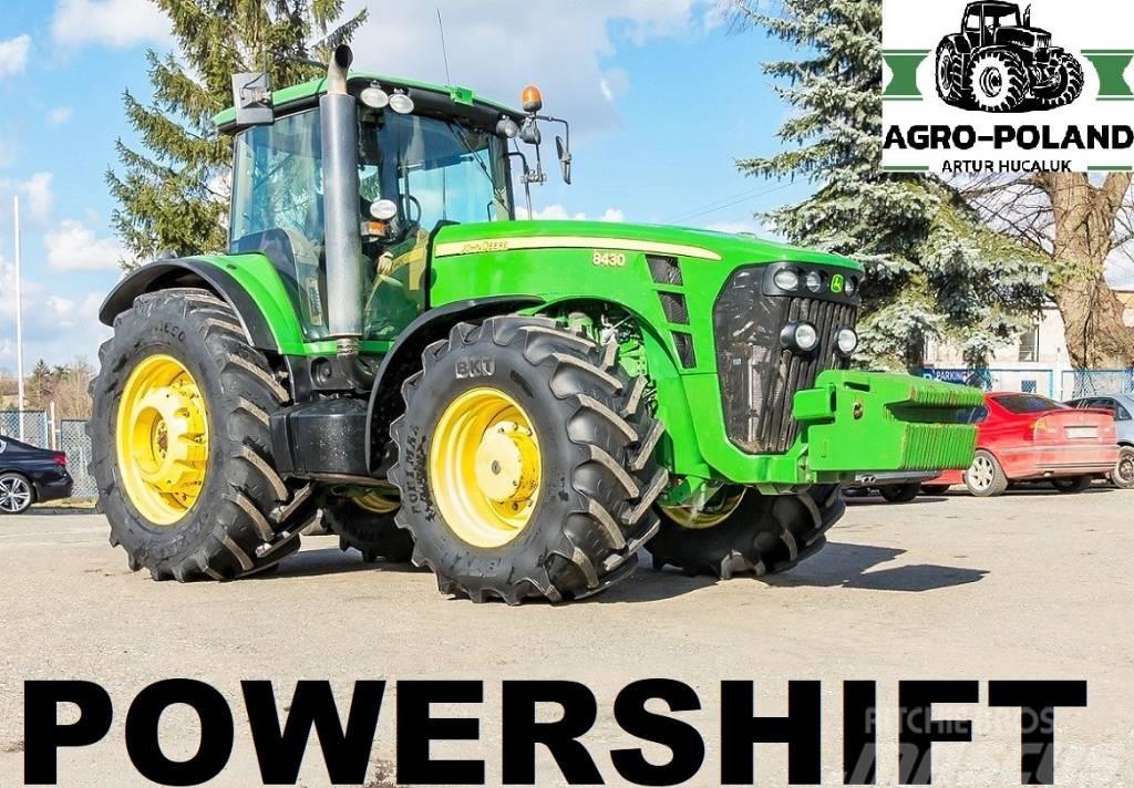 John Deere 8430 POWERSHIFT - 2009 ROK - NOWE OPONY