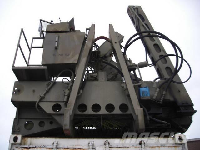 EKALIFT Ex army 20'container side loader, 1992, Specialcontainers
