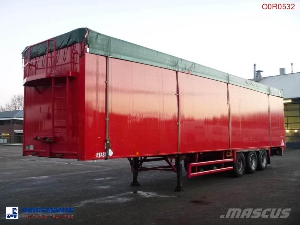 Stas Walking floor trailer alu 88 m3 + tarpaulin