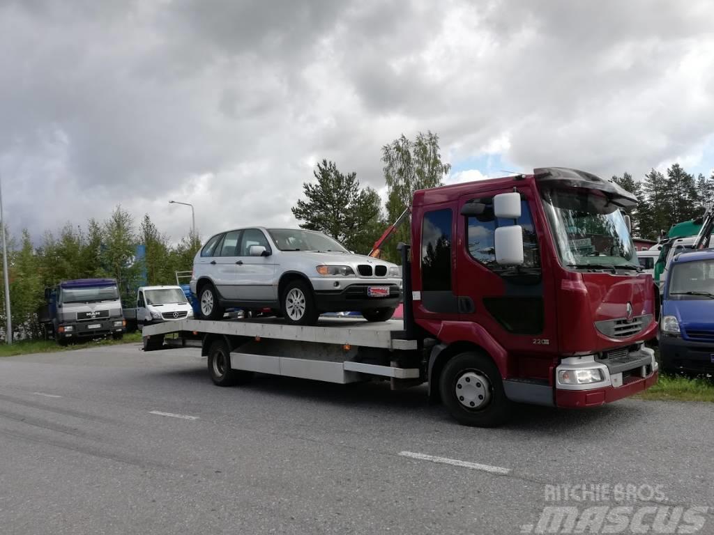 Renault Midlum 220.12 auton/koneenkuljetuslava