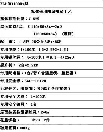 [Other] 北京九虹 ZLP1000型电动吊篮