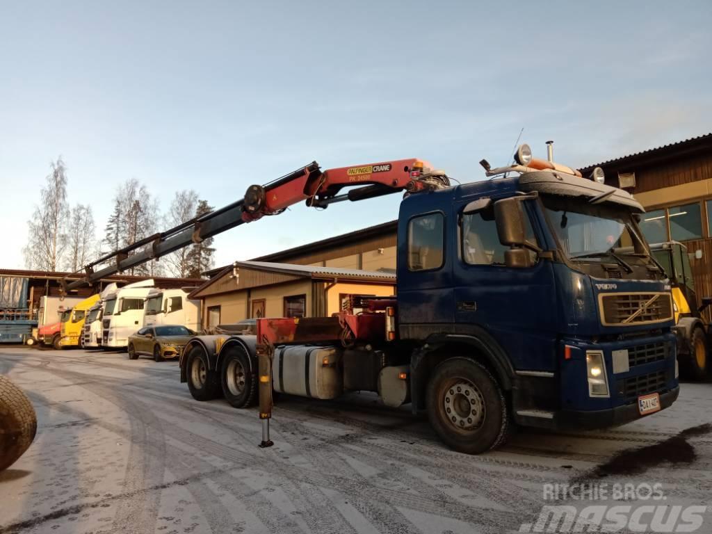 Volvo FM380 6x4 vaijerilaitteet+Palfinger 5jatkoinen