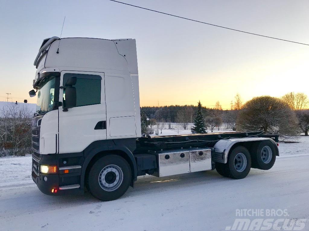 Scania R500 Multilift vaijerilaitteet