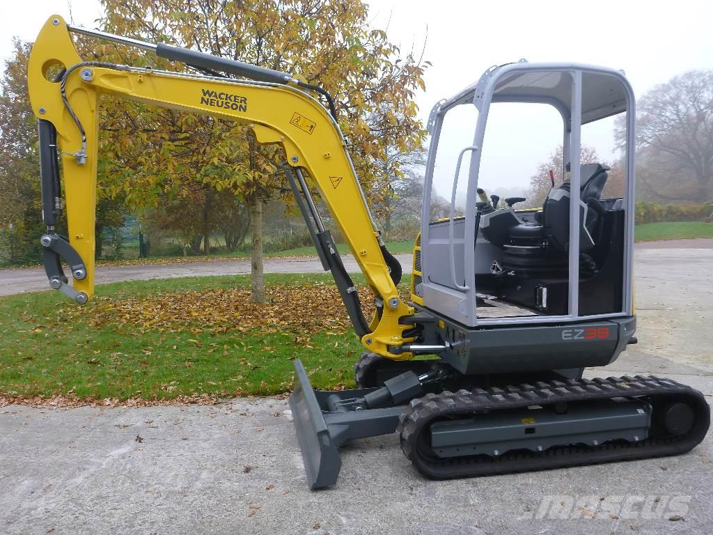 used wacker neuson ez38 mini excavators. Black Bedroom Furniture Sets. Home Design Ideas
