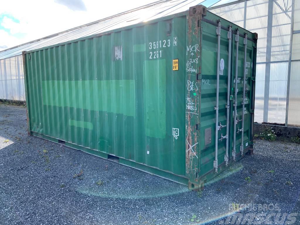 [Other] Container 20fot grön 20fots beg sjöfartscontainer
