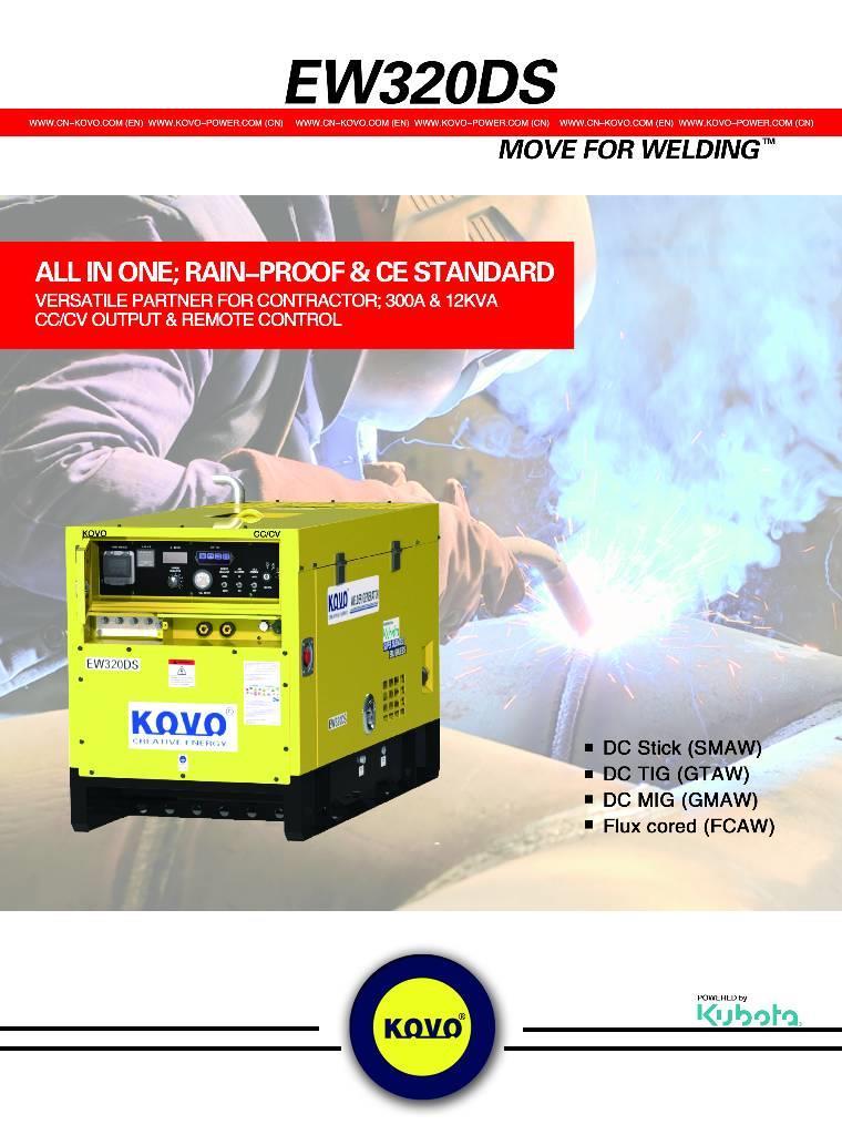 Used Kubota ENGINE DRIVEN WELDER GENERATOR EW320DS welding machines