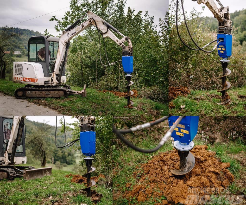 [Other] Polžni cepilec drv za bagre Kegelspalter Holzspalt