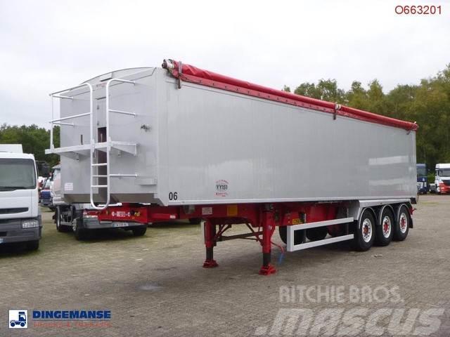 Fruehauf Tipper trailer alu 55 m3 + tarpaulin